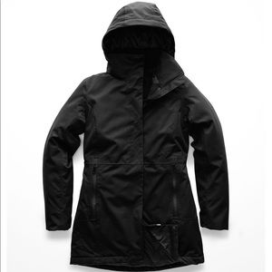 The North Face ancha parka black insulated jacket